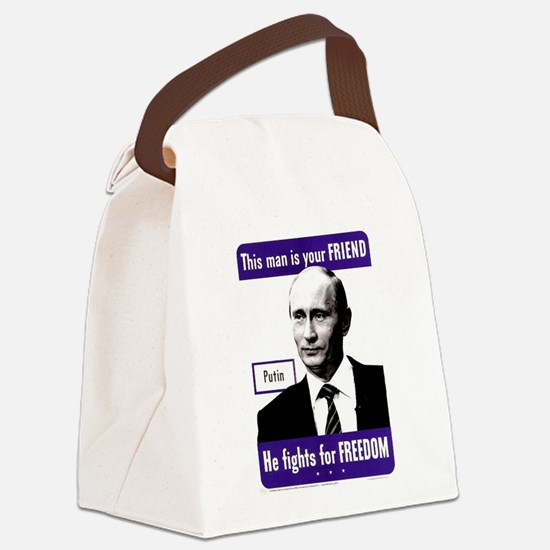 Vladimir Putin. This man is your Canvas Lunch Bag
