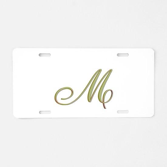 Choose Your Colors Monogram Aluminum License Plate