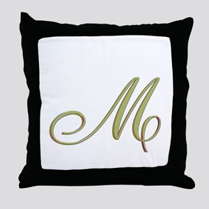 Choose Your Colors Monogram Throw Pillow