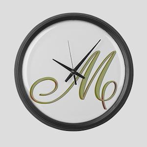 Choose Your Colors Monogram Large Wall Clock