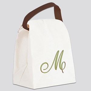 Choose Your Colors Monogram Canvas Lunch Bag
