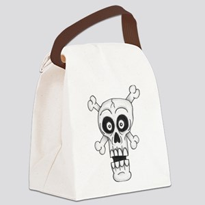 Doodle Skull Canvas Lunch Bag
