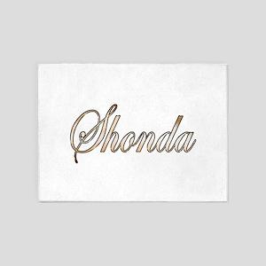 Gold Shonda 5'x7'Area Rug