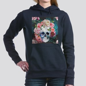 Flowers and Skull Women's Hooded Sweatshirt