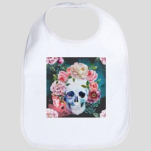 Flowers and Skull Bib