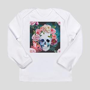 Flowers and Skull Long Sleeve Infant T-Shirt