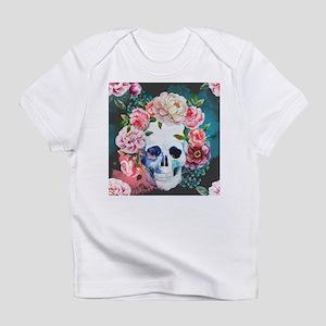 Flowers and Skull Infant T-Shirt