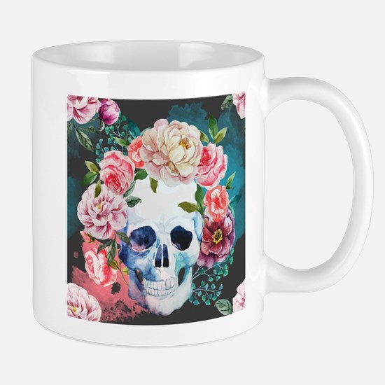 Flowers and Skull Mug