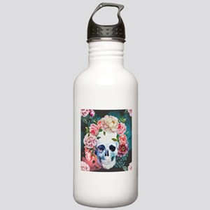 Flowers and Skull Stainless Water Bottle 1.0L
