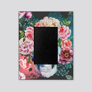 Flowers and Skull Picture Frame
