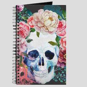 Flowers and Skull Journal