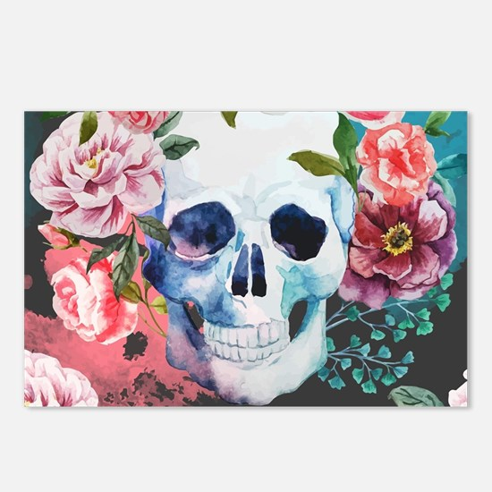 Flowers and Skull Postcards (Package of 8)