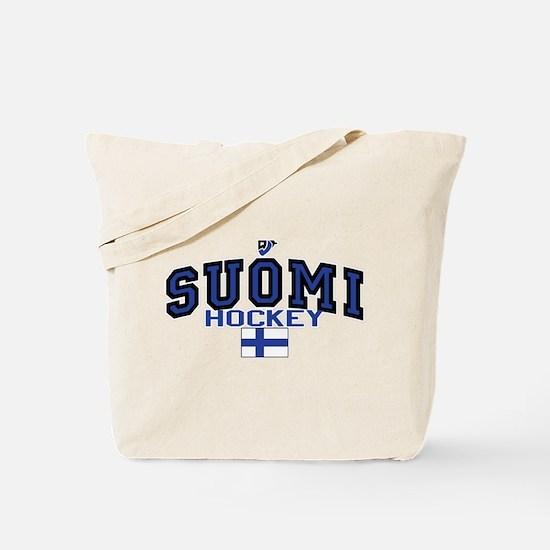 FI Finland Suomi Hockey 8 Tote Bag