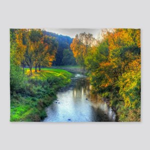 Apple River Canyon State Park, Illi 5'x7'Area Rug