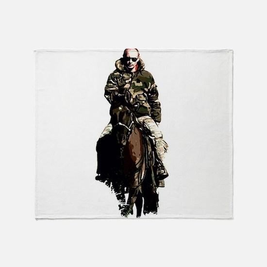 Vladimir Putin Throw Blanket