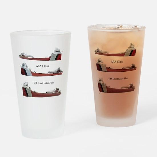 Aaa Class Uss Great Lakes Fleet Drinking Glass