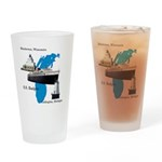 Ss Badger Map Drinking Glass