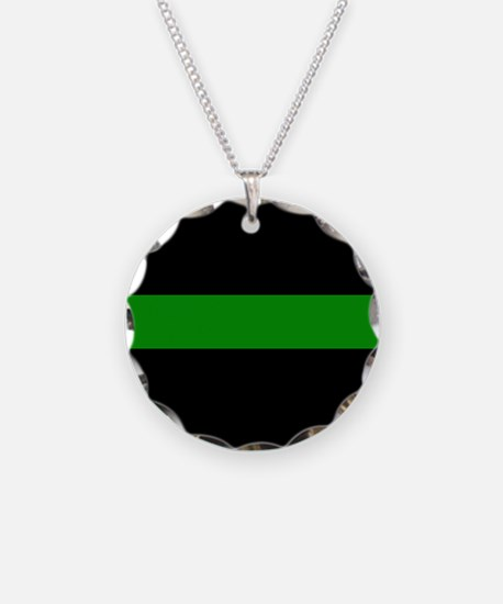 The Thin Green Line Necklace