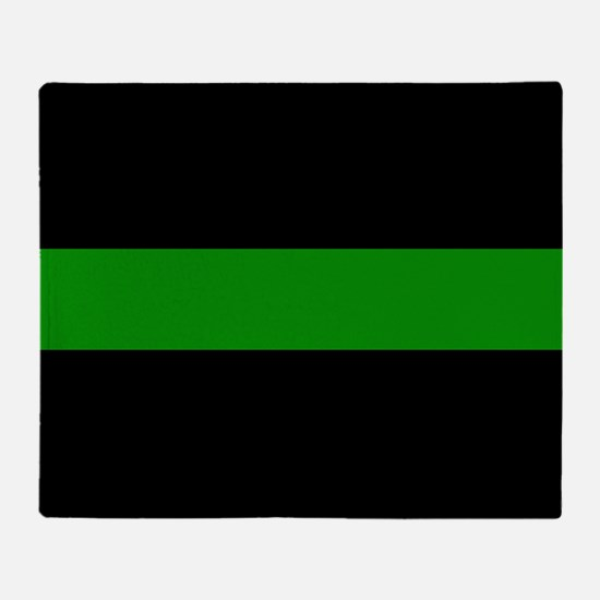 The Thin Green Line Throw Blanket