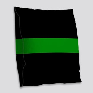 The Thin Green Line Burlap Throw Pillow