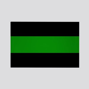 The Thin Green Line Rectangle Magnet