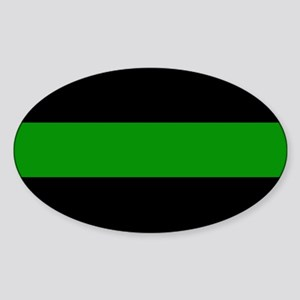 The Thin Green Line Sticker (Oval)