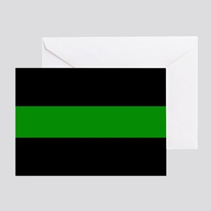 The Thin Green Line Greeting Card