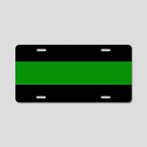 The Thin Green Line Aluminum License Plate