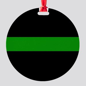 The Thin Green Line Round Ornament