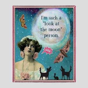 Look At The Moon Throw Blanket