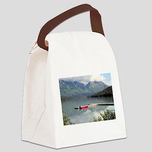 Boat on Trail Lake, Alaska Canvas Lunch Bag