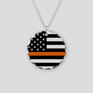Search & Rescue: Black Flag Necklace Circle Charm