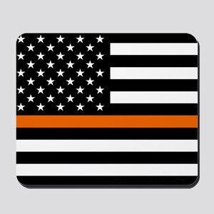 Search & Rescue: Black Flag & Thin Orang Mousepad