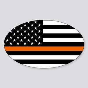 Search & Rescue: Black Flag & Thin Sticker (Oval)