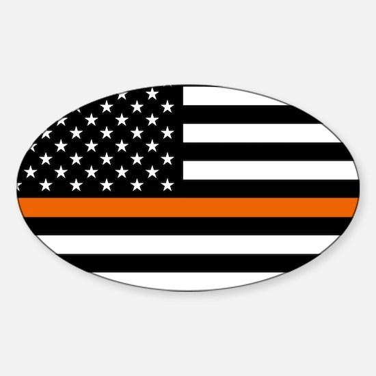 Search & Rescue: Black Flag & Thin Sticker (Oval)