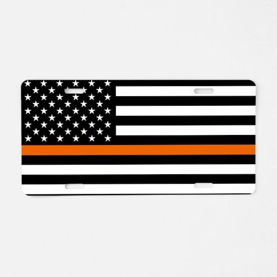Search & Rescue: Black Flag Aluminum License Plate