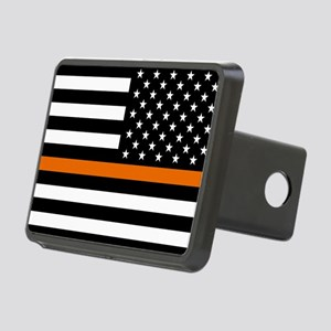 Search & Rescue: Black Fla Rectangular Hitch Cover