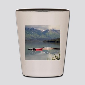 Boat on Trail Lake, Alaska Shot Glass