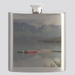Boat on Trail Lake, Alaska Flask