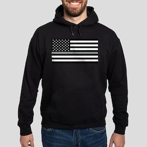U.S. Flag: Black Flag & The Thin Gre Hoodie (dark)