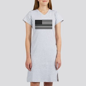 U.S. Flag: Black Flag & The Thi Women's Nightshirt