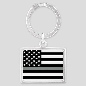 U.S. Flag: Black Flag & The Thi Landscape Keychain