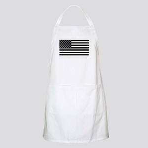U.S. Flag: Black Flag & The Thin Grey Line Apron