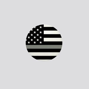 U.S. Flag: Black Flag & The Thin Grey Mini Button