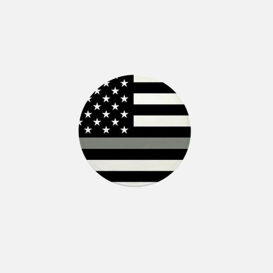 U.S. Flag: Black Flag & The Thin Grey Mini Button