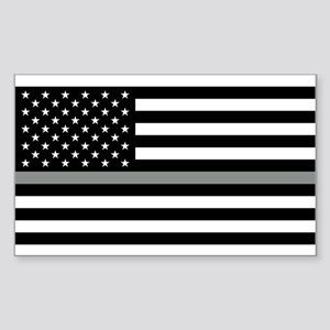 U.S. Flag: Black Flag & The Th Sticker (Rectangle)