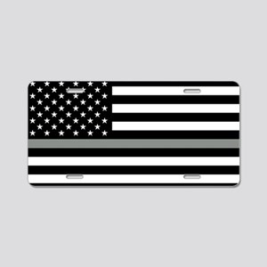 U.S. Flag: Black Flag & The Aluminum License Plate