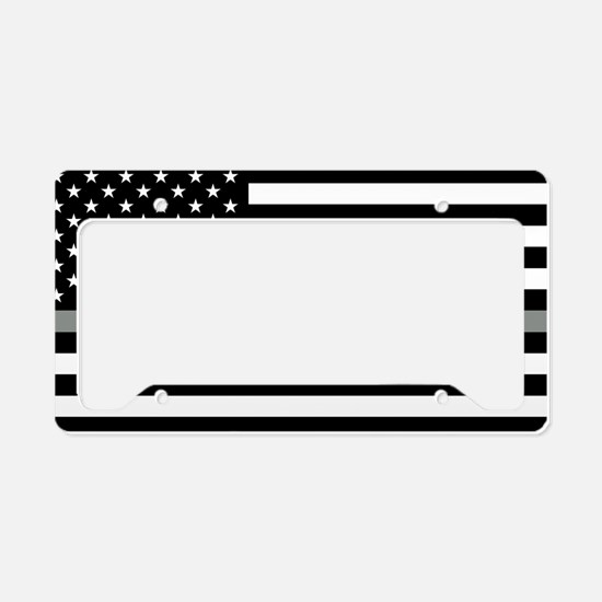 U.S. Flag: Black Flag & The T License Plate Holder