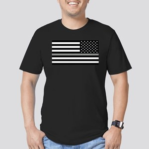 U.S. Flag: Black Flag Men's Fitted T-Shirt (dark)