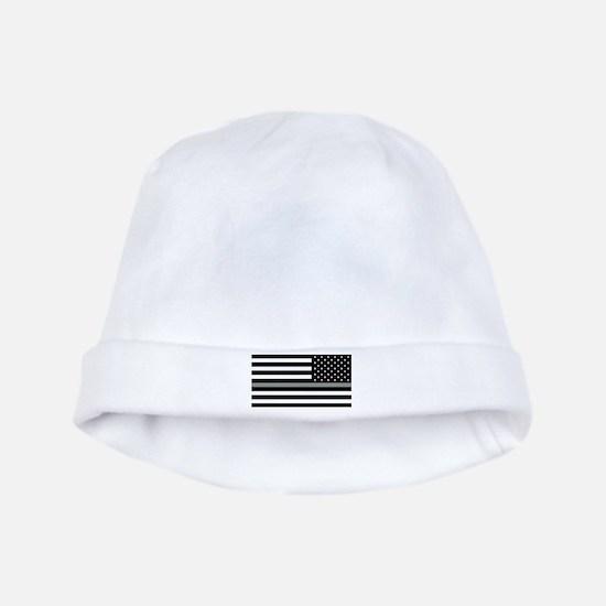 U.S. Flag: Black Flag & The Thin Grey Lin baby hat